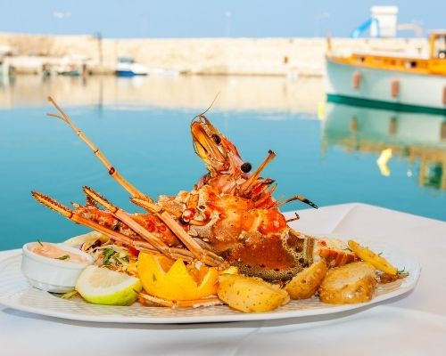 Lobster by the Sea Greece